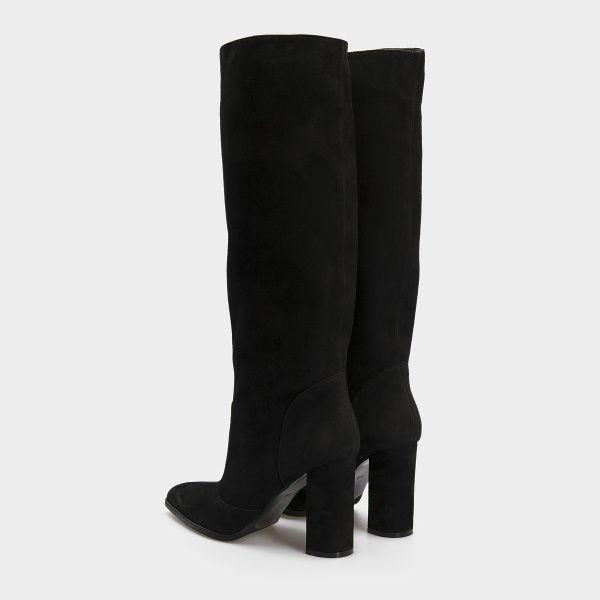 Сапоги для женщин Сапоги 1700 черная замша 1700-020 брендовая обувь, 2017