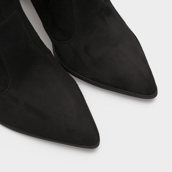 Сапоги для женщин Сапоги 1700 черная замша 1700-020 модная обувь, 2017