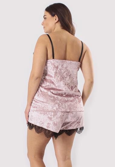 Домашній костюм GHAZEL модель 17111-12-88_black-pink — фото 4 - INTERTOP