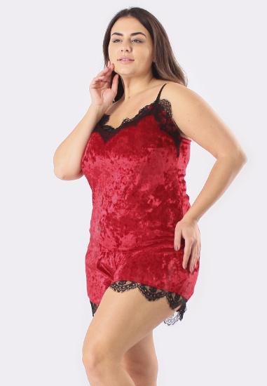 Домашній костюм GHAZEL модель 17111-12-88_black-red — фото 5 - INTERTOP