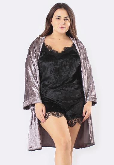 Домашній костюм GHAZEL модель 17111-12-88_fuchsia-black — фото 2 - INTERTOP