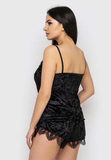 Домашній костюм GHAZEL модель 17111-12-88_fuchsia-black — фото 4 - INTERTOP