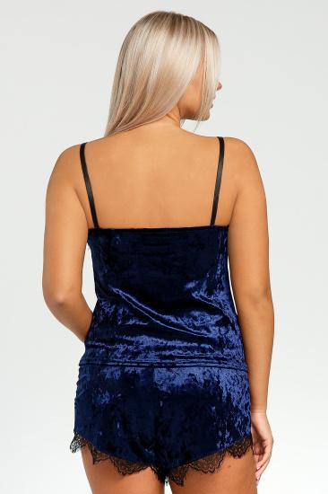Домашній костюм GHAZEL модель 17111-12-8_blue-blue — фото 4 - INTERTOP