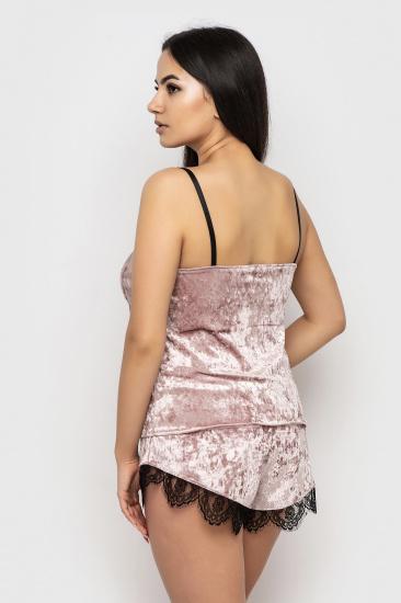 Домашній костюм GHAZEL модель 17111-12_black-pink — фото 5 - INTERTOP