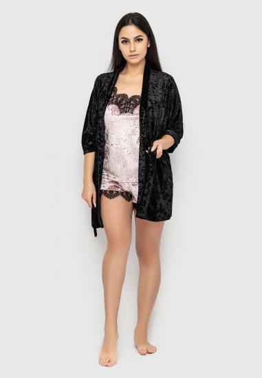 Домашній костюм GHAZEL модель 17111-12_black-pink — фото - INTERTOP