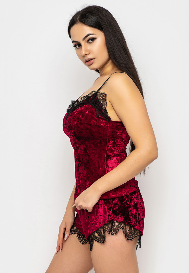 Домашній костюм GHAZEL модель 17111-12_burgundy-burgundy — фото 3 - INTERTOP