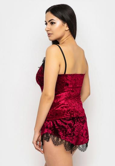 Домашній костюм GHAZEL модель 17111-12_burgundy-burgundy — фото 4 - INTERTOP