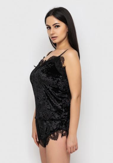 Домашній костюм GHAZEL модель 17111-12_marsala-black — фото 4 - INTERTOP