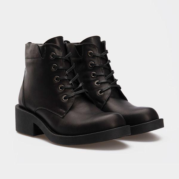 Ботинки для женщин Ботинки 1712-030 чорна шкіра. Вовна 1712-030 цена, 2017