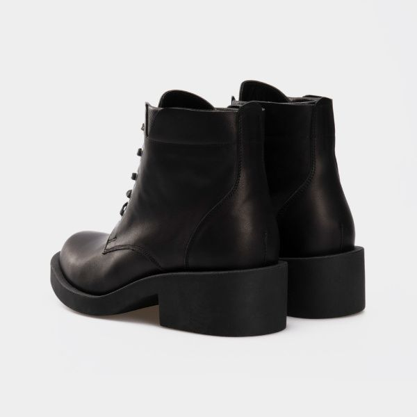 Ботинки для женщин Ботинки 1712-030 чорна шкіра. Вовна 1712-030 бесплатная доставка, 2017