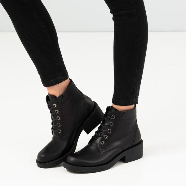 Ботинки для женщин Ботинки 1712-030 чорна шкіра. Вовна 1712-030 , 2017