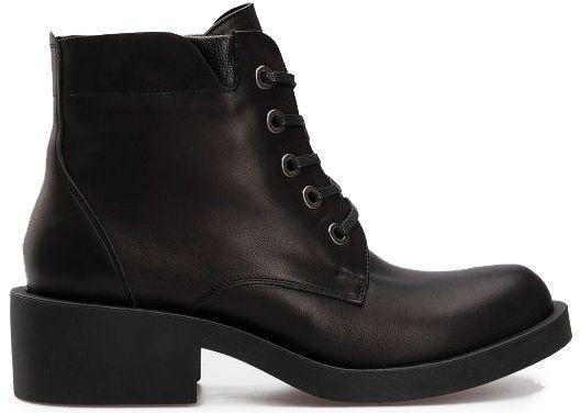 Ботинки для женщин Ботинки 1712-030 чорна шкіра. Вовна 1712-030 примерка, 2017