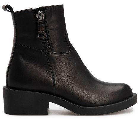 Купить Ботинки женские Ботинки 1715-030 черная кожа. Шерсть 1715-030, Gem, Черный