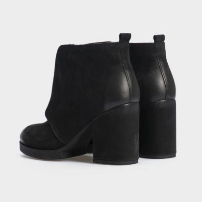 Ботинки женские Ботильоны 17218120-7 черный нубук. Байка 17218120-7 купить в Украине, 2017