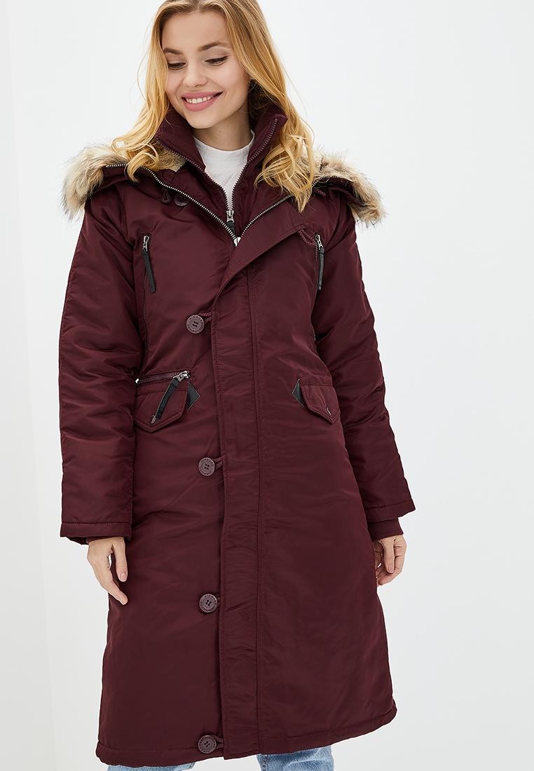 Куртка женские Airboss модель 173000773121_burgundy качество, 2017