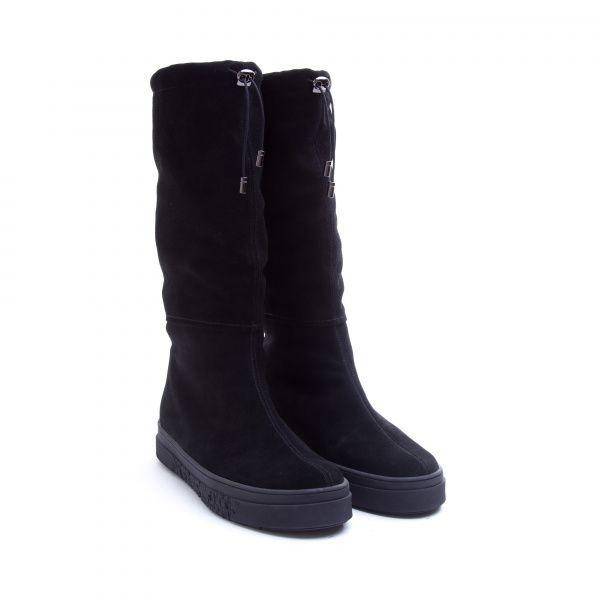Сапоги для женщин Сапоги 1753 черная замша. Еврозима 1753 размерная сетка обуви, 2017