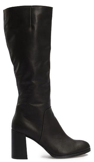 Сапоги женские Сапоги 1766 черная кожа 1766 купить обувь, 2017