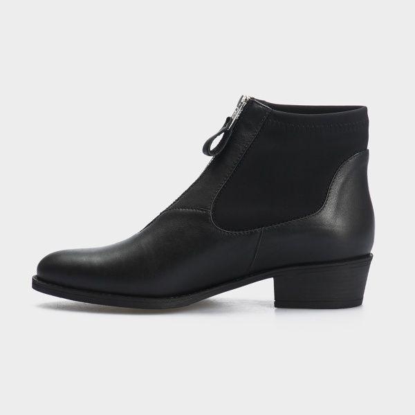 Ботинки женские Ботинки 18-10029-3chr черная кожа/текстиль. Байка 18-10029-3chr купить онлайн, 2017