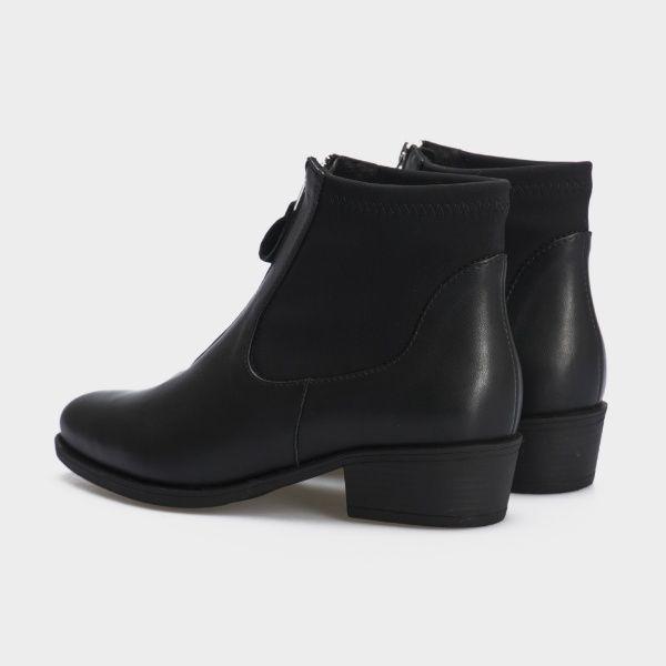 Ботинки женские Ботинки 18-10029-3chr черная кожа/текстиль. Байка 18-10029-3chr купить, 2017