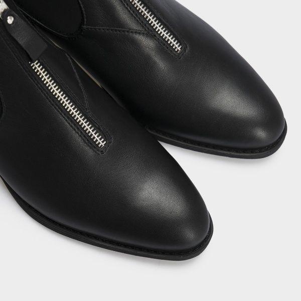 Ботинки женские Ботинки 18-10029-3chr черная кожа/текстиль. Байка 18-10029-3chr размерная сетка обуви, 2017