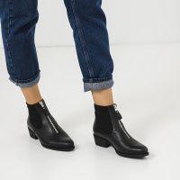 Ботинки женские Ботинки 18-10029-3chr черная кожа/текстиль. Байка 18-10029-3chr фото, купить, 2017