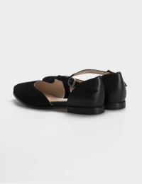 Балетки  жіночі Балетки 18-1383 черная замша/кожа 18-1383 розмірна сітка взуття, 2017
