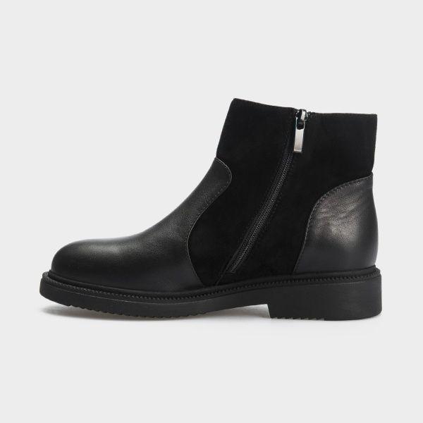 Ботинки женские Ботинки 18-3264-5 черная кожа/замша. Байка 18-3264-5 купить в Украине, 2017