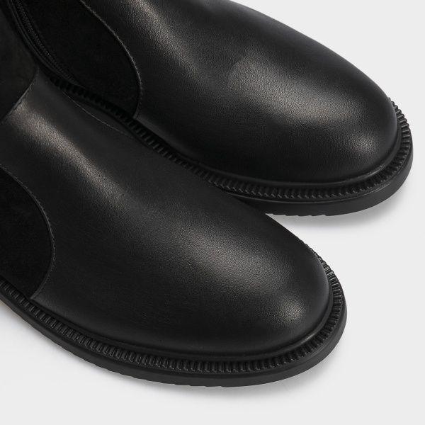 Ботинки женские Ботинки 18-3264-5 черная кожа/замша. Байка 18-3264-5 смотреть, 2017