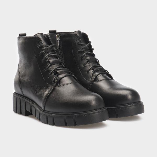 Ботинки женские Ботинки 18400130 черная кожа. Шерсть 18400130 купить в Интертоп, 2017