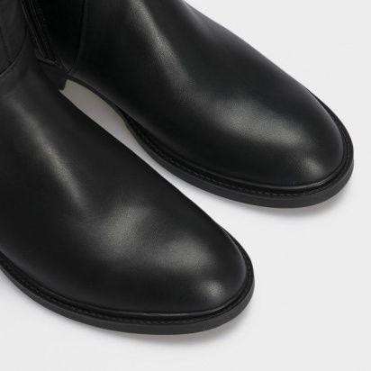 Сапоги для женщин Сапоги 1985-010 черная кожа.  Байка 1985-010 бесплатная доставка, 2017