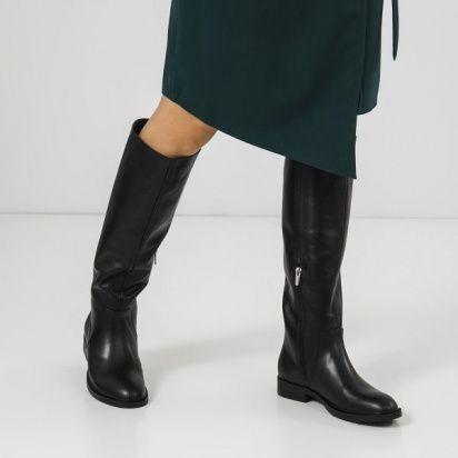 Сапоги для женщин Сапоги 1985-010 черная кожа.  Байка 1985-010 обувь бренда, 2017