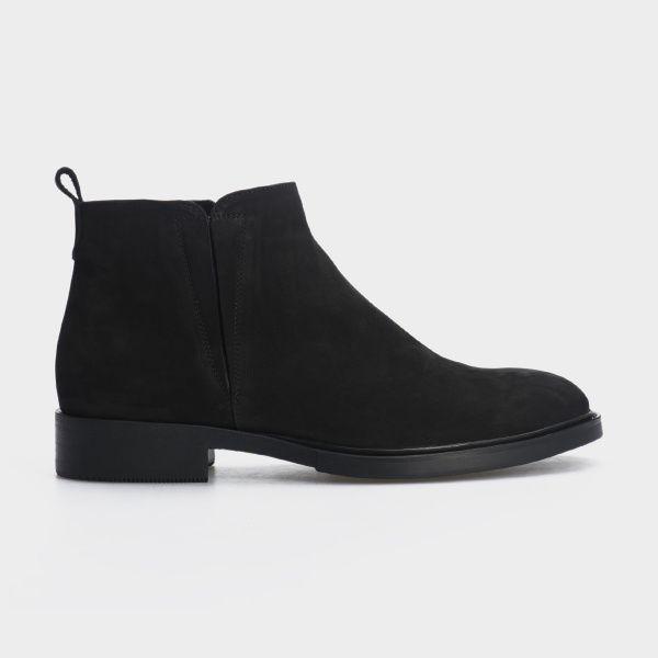 Ботинки женские Ботинки 1999-210chr черный нубук. Байка 1999-210chr обувь бренда, 2017