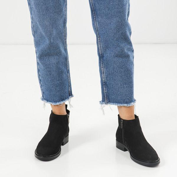 Ботинки женские Ботинки 1999-210chr черный нубук. Байка 1999-210chr смотреть, 2017