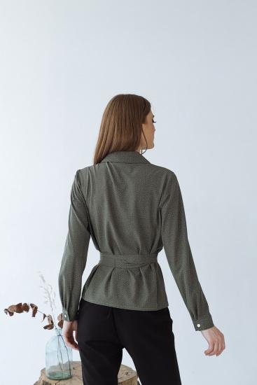 Блуза з довгим рукавом VOVK модель 09334 горох — фото 2 - INTERTOP