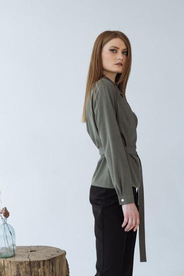 Блуза з довгим рукавом VOVK модель 09334 горох — фото 3 - INTERTOP
