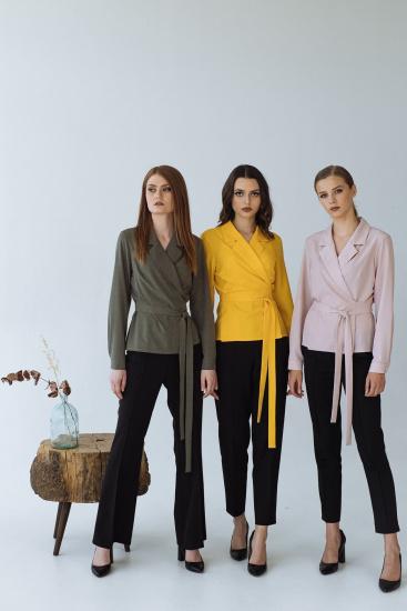 Блуза з довгим рукавом VOVK модель 09334 горох — фото 4 - INTERTOP