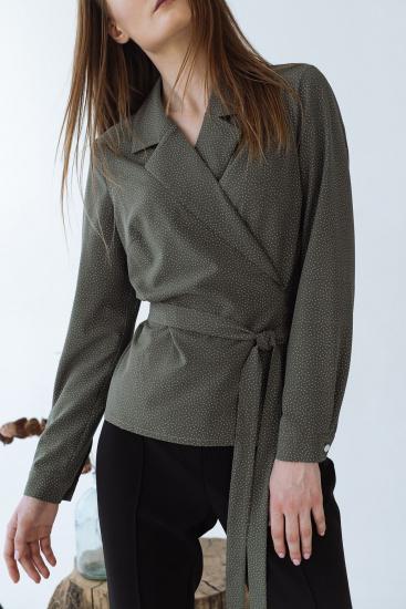Блуза з довгим рукавом VOVK модель 09334 горох — фото - INTERTOP