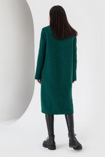 Пальто VOVK модель 07121 смарагдовий — фото 2 - INTERTOP