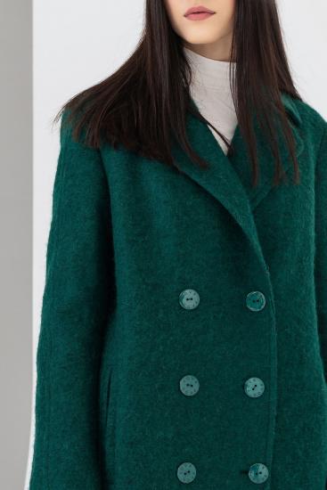 Пальто VOVK модель 07121 смарагдовий — фото 4 - INTERTOP