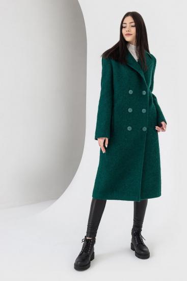 Пальто VOVK модель 07121 смарагдовий — фото - INTERTOP