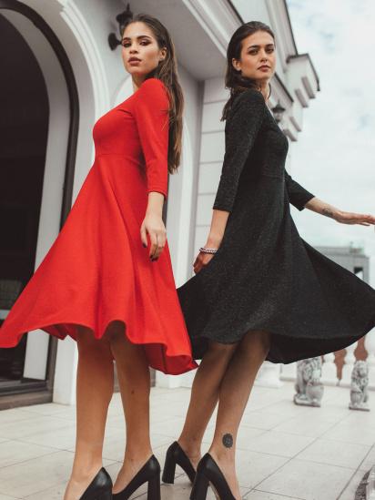 Сукня VOVK модель 010207 червоний — фото 4 - INTERTOP