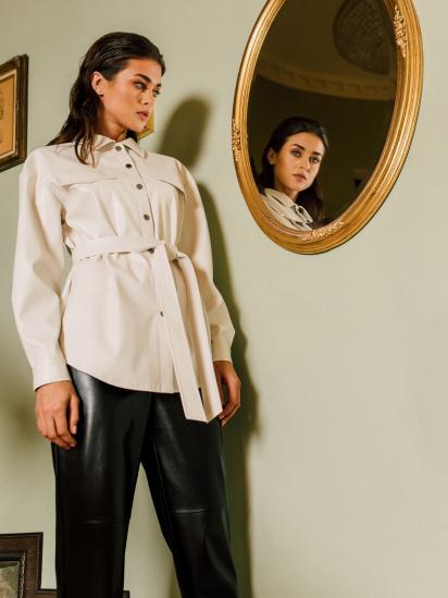 Блуза з довгим рукавом VOVK модель 09797 молочний — фото 3 - INTERTOP