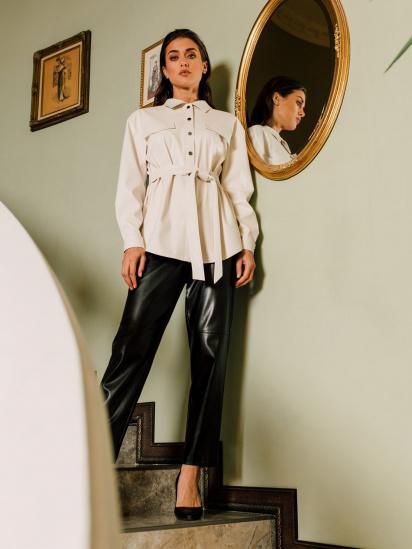Блуза з довгим рукавом VOVK модель 09797 молочний — фото - INTERTOP