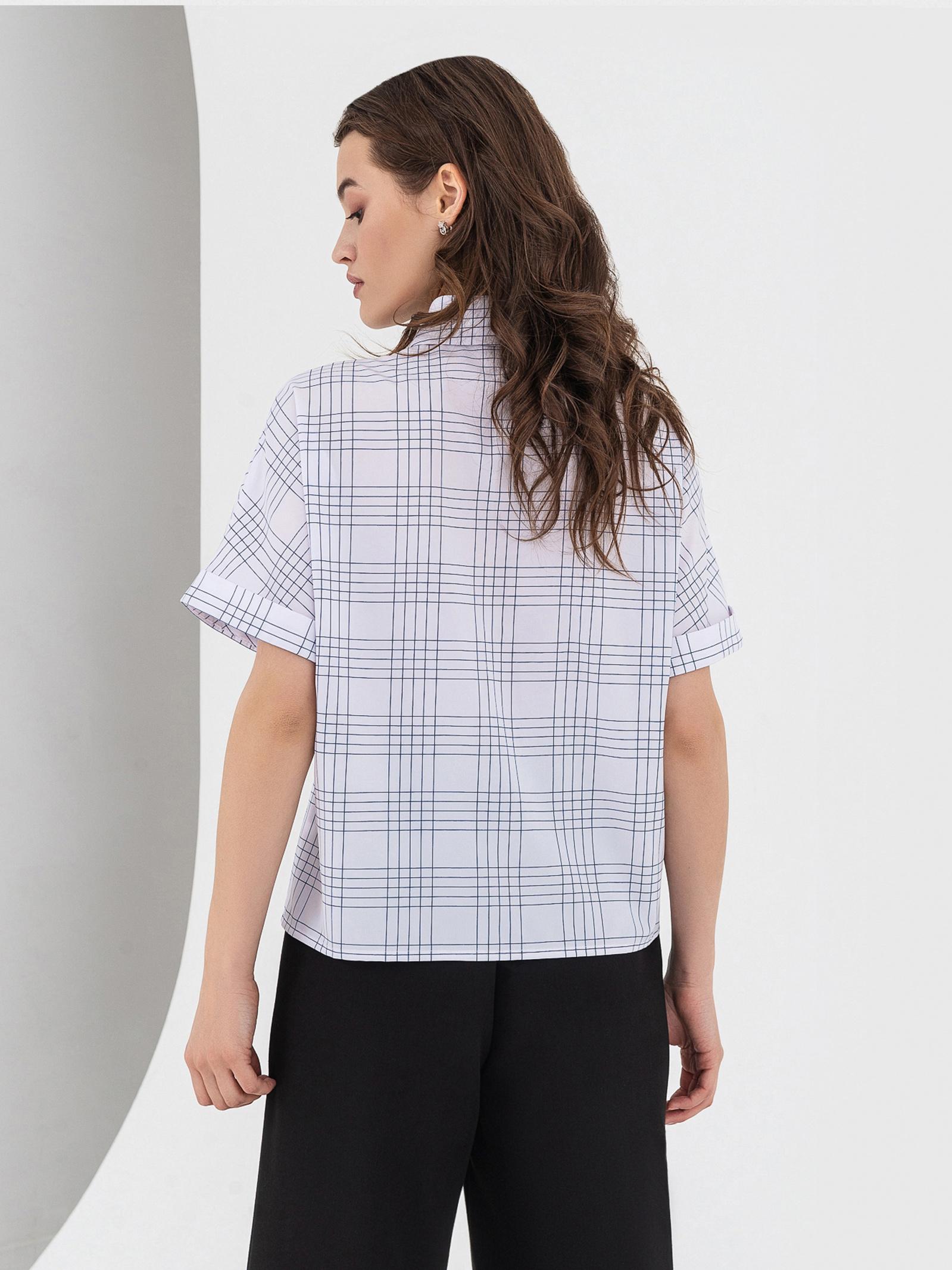 VOVK Блуза жіночі модель 05823 клітинка якість, 2017