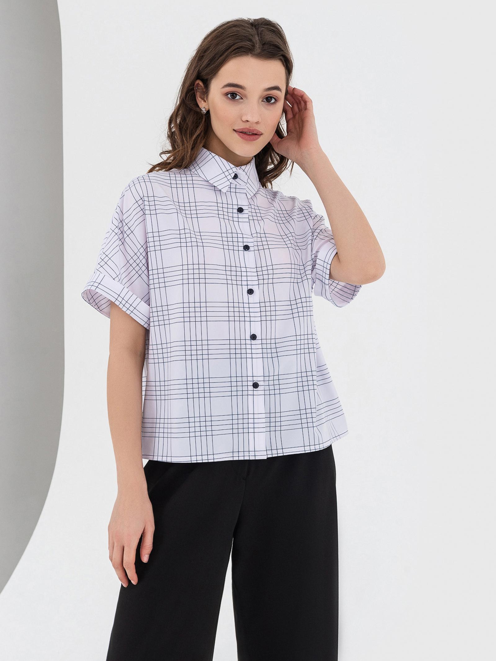 VOVK Блуза жіночі модель 05823 клітинка купити, 2017