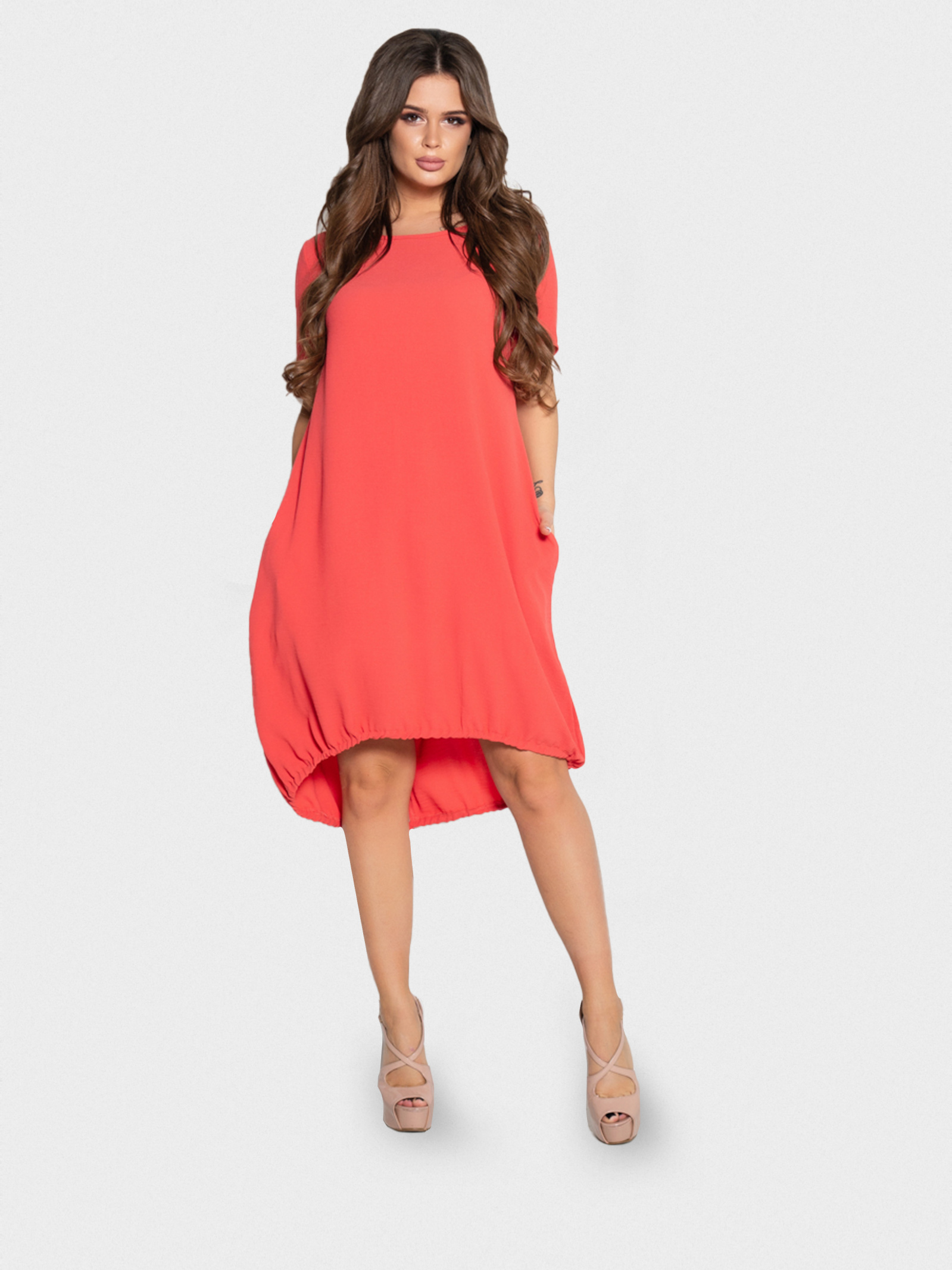 ISSA Plus Сукня жіночі модель 10497_коралловый придбати, 2017