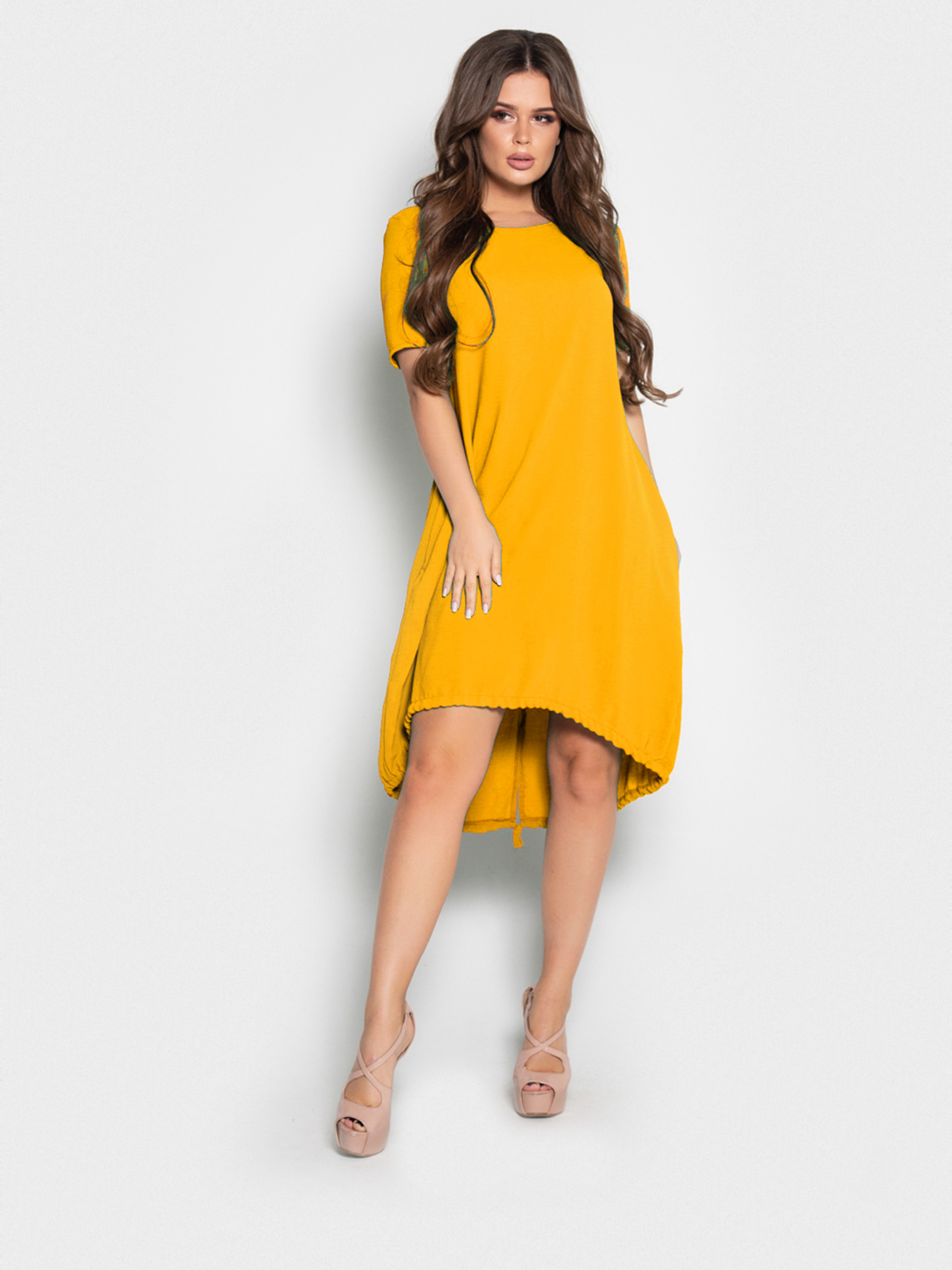 Сукня жіноча ISSA Plus модель 10497_желтый - фото