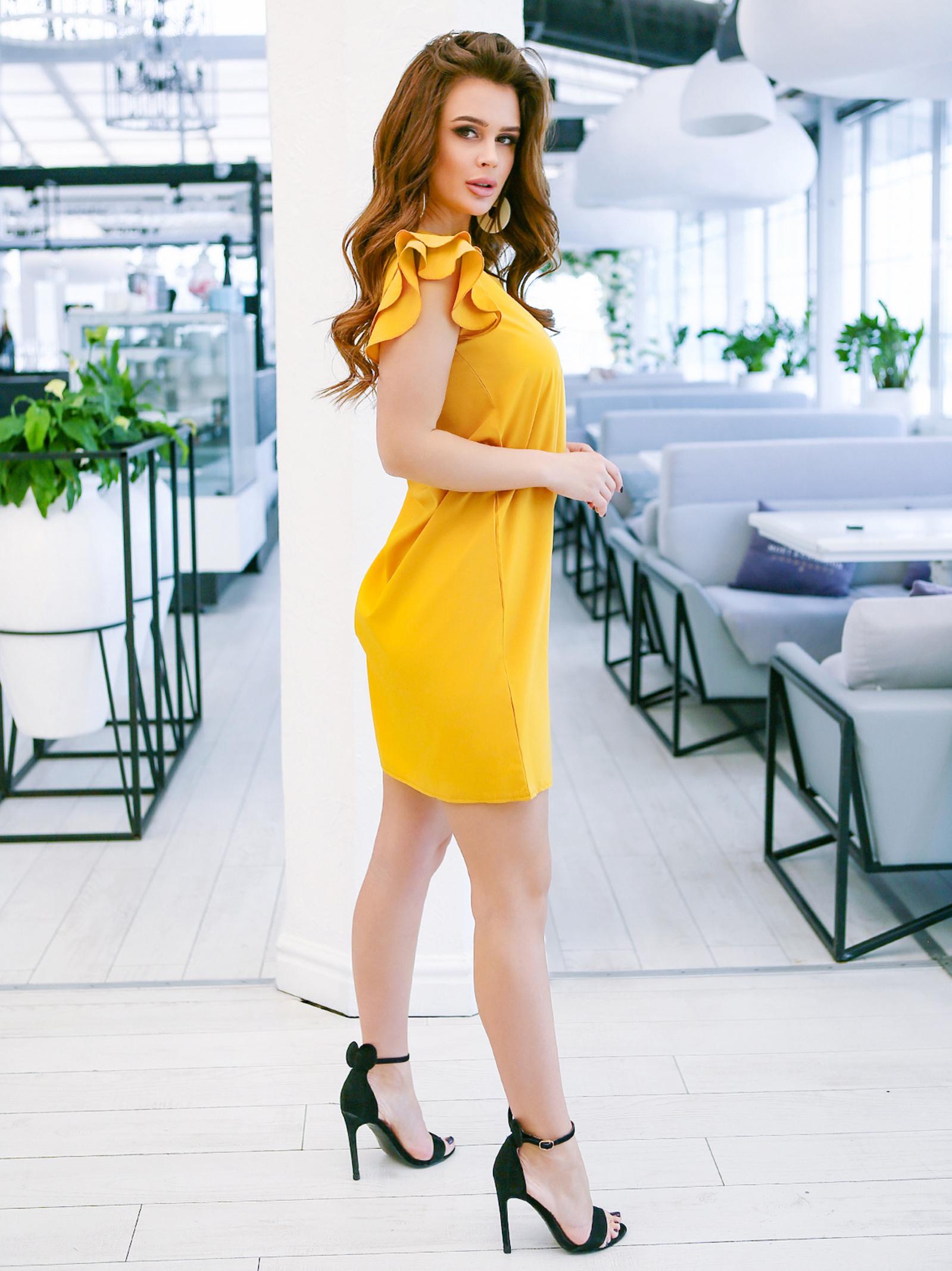 ISSA Plus Сукня жіночі модель 11636_желтый відгуки, 2017