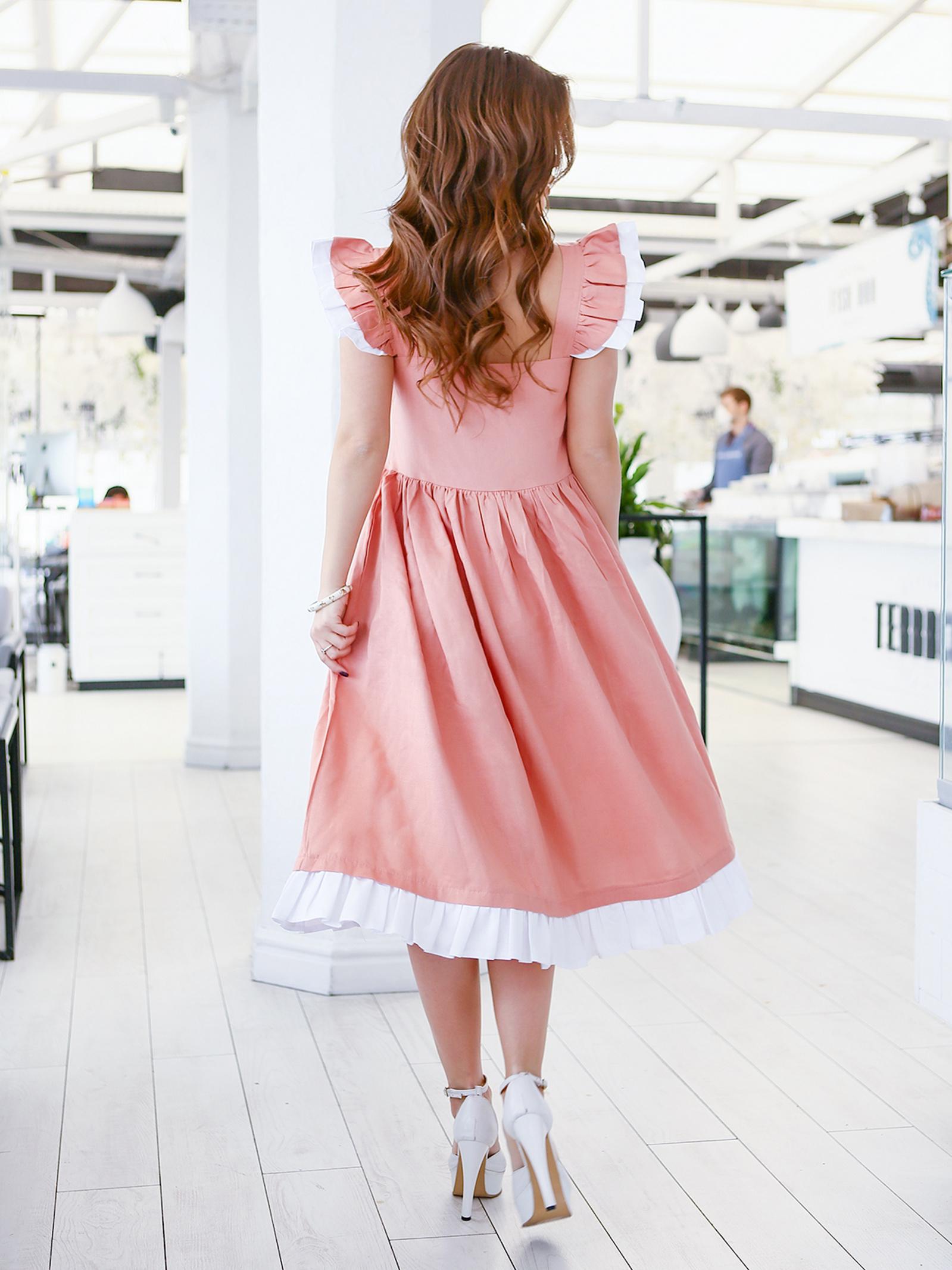 ISSA Plus Сукня жіночі модель 11646_персиковый , 2017