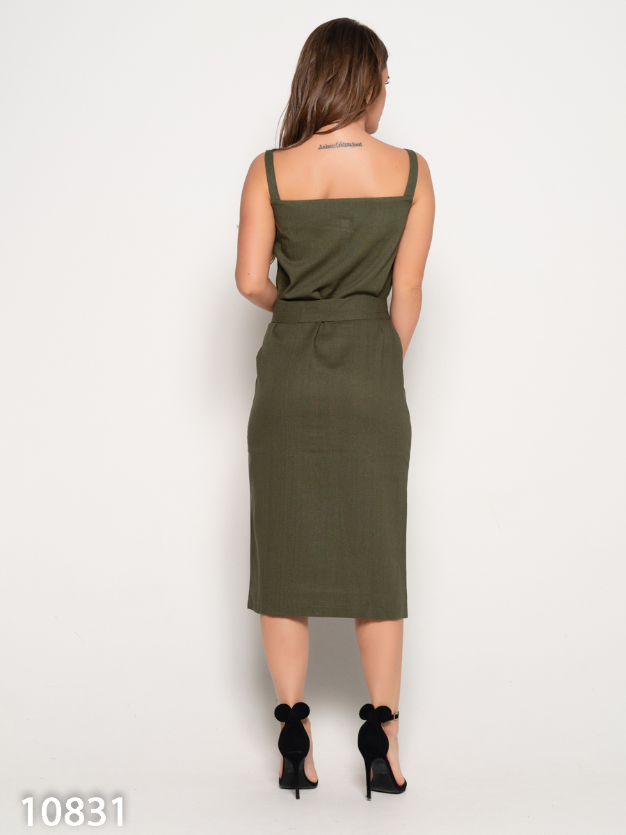 ISSA Plus Сукня жіночі модель 10831_хаки , 2017